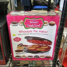 Who needs a Whoopie Pie Maker? And Happy Tails Thrift Store has got it. And all proceeds go to help the animals at Humane Society of the North Bay! Whoopie Pies, Humane Society, Thrifting, Gadgets, California, Baking, Store, Breakfast, Sweet
