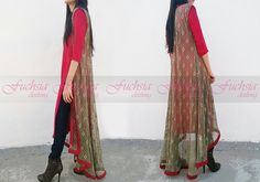 Fuchsia clothing smart casual. #pakistani dresses Get here: www.facebook.com/fuchsia.clothing
