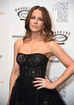 Kate Beckinsale Dark Nail Polish - Kate Beckinsale matched her mani to her gown when she attended the premiere of 'The Only Living Boy in New York.'