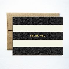 foil stripes thank you card