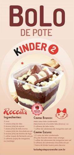 Kinder Bueno Pot Cake Recipe 2 - Step by Step Course, Easy Smoothie Recipes, Easy Smoothies, Good Healthy Recipes, Cake Recipes, Snack Recipes, Dessert Recipes, Dessert Boxes, Food Porn, Coconut Recipes
