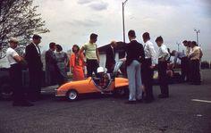 Amusement Park Go Carts Cars Ride Long Island or New York City 1960s 35mm Slide