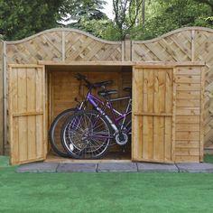 Avon 6' x 3' Overlap Pent Bike Store - Bike Sheds - Sheds