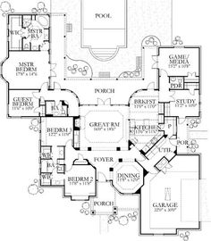 Browse nearly ready-made house plans to find your dream home today. Floor plans can be easily modified by our in-house designers. The Plan, How To Plan, Plan Plan, Dream House Plans, House Floor Plans, My Dream Home, Ranch Style Floor Plans, Dream Homes, Traditional House Plans