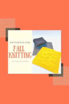 Fall…knitting's perfect season. Jump in! Your new fall faves from Knit So Easy. Beginner friendly, quick & easy knitting patterns. Fall Knitting Patterns, Dishcloth Knitting Patterns, Easy Knitting, Knitted Washcloths, Knitted Baby Blankets, Knitted Hats Kids, Kids Hats, Banner Elk, Knitting For Beginners