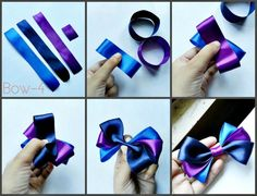 DIY Hair Bows Patterns): 4 Steps (with Pictures) Ribbon Hair Bows, Diy Hair Bows, Diy Ribbon, Ribbon Flower, Ribbon Crafts, Boutique Bows, Hair Bow Tutorial, Flower Tutorial, Handmade Hair Bows