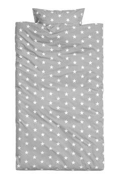 Komplet pościeli w gwiazdki: Pościel z cienkiej bawełny z nadrukiem w gwiazdki. Jedna poszewka na poduszkę. Przędza 30s, gęstość 144.