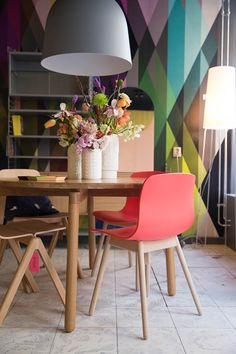 Femkeido studio & shop in voorburg Shop Interior Design, Diy Design, Interior Decorating, House Design, Decorating Ideas, Decoration Inspiration, Cole And Son, Dining Room Design, House Colors