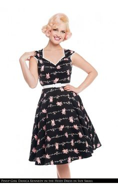 d44819a9ee1421 Curve Hugging 1950 s Style Swing Dress in TIpsy Elephant Print Stretch  Sateen