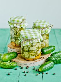 Swedish salad with cucumbers Veggie Recipes, Sweet Recipes, Cooking Recipes, Drink Recipes, Marinated Cucumbers, Pickle Jars, Polish Recipes, Polish Food, Middle Eastern Recipes