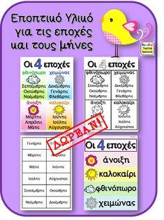 Preschool Education, Preschool Math, Teaching Resources, Greek Language, Speech And Language, 1st Grade Math, Grade 1, My Children, Calendar