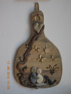 Gift for good friends,with materials from ''mother nature '' made by Mirela Margetousakis