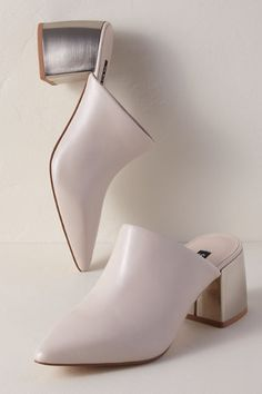 Senso Savina Heels Cream in Shoes Pearl Sandals, Bridal Sandals, Silver Sandals, Bridal Shoes, Mules Shoes, Heeled Mules, Mix Match Bridesmaids, Anthropologie Wedding, Silver Wedding Shoes