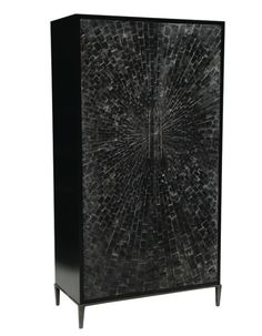 Black cabinet for either bedroom and living room | Discover more contemporary cabinets: http://buffetsandcabinets.com/