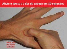 Aliviar a dor de cabeça e o estresse com acupressão em 30 segundos