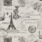French Stamp Onyx/Natural by Premier Prints - Drapery Fabric