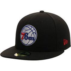 f3bf95800e234 Men s Philadelphia 76ers New Era Black 59FIFTY Custom Fitted Hat