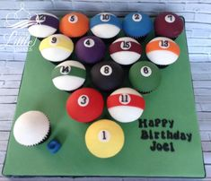 Pool Ball cupcakes by Great Little Bakes