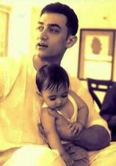 Aamir Khan with his son Azad.
