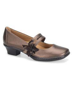 ↪↩ {}{} ↪↩  This Copper & Coffee Sable Leather Mary Jane by Softspots is perfect! #zulilyfinds