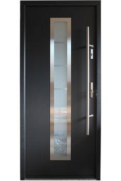 "exterior doors | Madrid"" - Stainless Steel Entry Door with Glass"