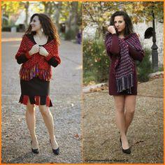 Vestitino di lana e un caldissimo sciarpone di fili di lana intrecciati tra di loro. Disponibili più colori.  #ilfilodiariannaonline