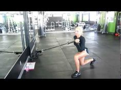 LANDMINE EXERCISE JENNFIT TRAINING:Try this exercise for tight glutes and lean legs! 15 reps per side...