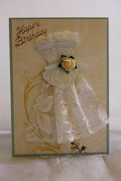 Pintrest Handmade Birthday Card Ideas   dresses on handmade cards   Helens Card Designs