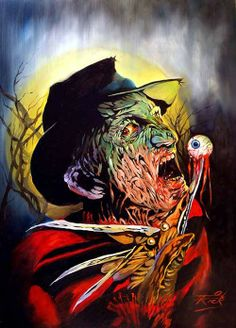 Freddy and Jason art by Rick Melton