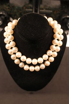 Vintage Necklace Faux Pearls Japan by dianadivine on Etsy, $22.00