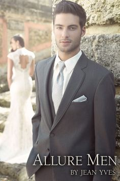 The Steel Grey Allure Men tuxedo is the perfect look for your wedding day! #wedding #weddingtux #tuxedo