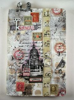 An Art Journal created by Suzz with the Journal kit created by Shari Carroll for Simon Says Stamp.