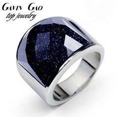 Aliexpress.com: Comprar Recién llegado de la joyería 316L de acero Titanium púrpura de la piedra Natural anillo para hombre de platino oro blanco plateó regalo de cumpleaños de llamar a mejorar la fiable proveedores en Gavin Gao Jewelry