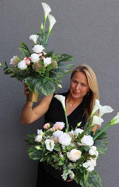 Contemporary Flower Arrangements, Tropical Floral Arrangements, Church Flower Arrangements, Church Flowers, Silk Flower Arrangements, Funeral Flowers, Centerpiece Decorations, Flower Centerpieces, Money Flowers