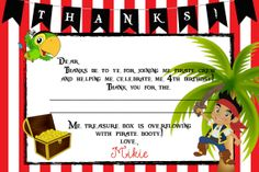 Jake+and+the+Neverland+Pirate+Thank+You+Card+by+ckfireboots,+$9.00