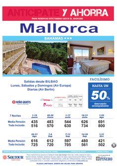 Mallorca -Anticipate y Ahorra- Hasta 50% Dto.Acompañantes en Hotel Bahamas, salidas desde Bilbao ultimo minuto - http://zocotours.com/mallorca-anticipate-y-ahorra-hasta-50-dto-acompanantes-en-hotel-bahamas-salidas-desde-bilbao-ultimo-minuto/