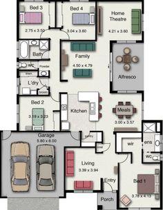 7 Planos de casas modernas de 1 piso y cochera doble