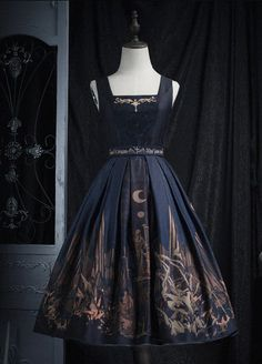Ohhh, Really nice!!!!------------------------ZJ Story -The Graveyard of the Dragons- Gothic Lolita Jumper Dress