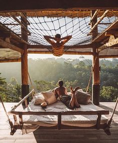 When the jungle drums are calling you'll want to visit one of these luxurious rainforest retreats. Jungle House, Tree House Designs, Bamboo House, Unique Hotels, Ubud, Travel Couple, Dream Vacations, Romantic Vacations, Romantic Travel
