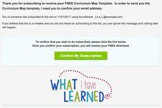 Thank You Curriculum Map