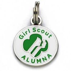 """Girl Scouts Alumna Profiles Charm Silvertone, """"Girl Scout Alumna"""" and profiles make this charm perfect for your charm bracelet!"""