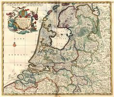 Antique map of the Northern Netherlands by F. De Wit. | Sanderus Antique Maps
