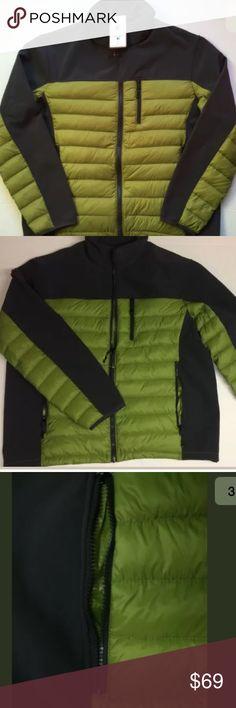 Hawke & Co Hybrid Down Jacket XL Solid Gray/Green Hawke & Co Hybrid Down/Fleece Jacket Mens XL Solid Gray/Charcoal/Green $195 NWT Hawke & Co Jackets & Coats Performance Jackets