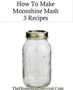 How To Make Moonshine Mash – 3 Recipes » The Homestead Survival Moonshine Mash Recipe,
