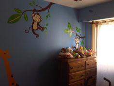 Decoracion de selva con vinilos Wall Art en habitacion para nene (foto2)