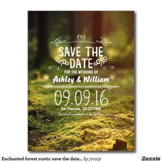 Enchanted Forest Fairy Themed Outdoor Events Flyer Template Flyer - Save the date flyer template