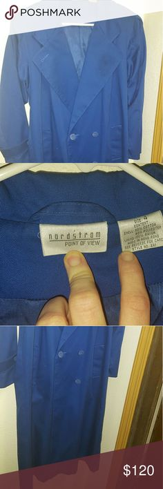 Nordstrom Coat A stunning royal blue color! Worn once, and in like new condition! I wear a size 10 dress, and it is large on me. Nordstrom Jackets & Coats Trench Coats