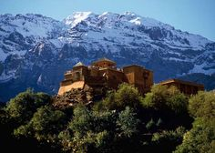 KASBAH DU TOUBKAL, MOROCCO This hotel is perched in Toubkal National Park, in the High Atlas Mountains near Marrakech. Guests can take guided hikes up nearby Jbel Toubkal, the highest mountain in north Africa.