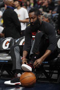James Harden (13) in the first half of an NBA basketball game, in Denver Rockets Nuggets Basketball – 18 Mar 2017 (REX/Shutterstock)