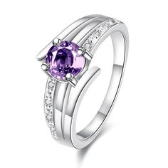 "The ""Strasbourg"" Silver Amethyst Birthstone Ring"